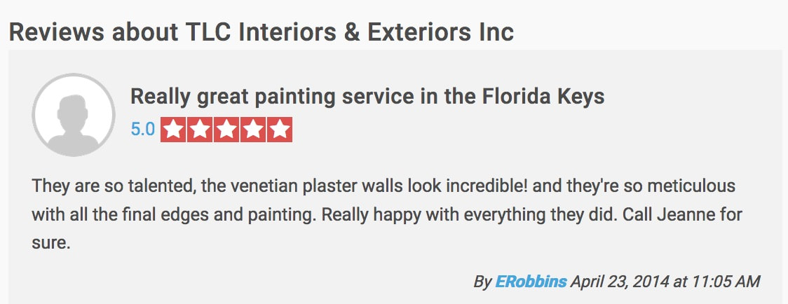 Review of Fl Keys painting contractors